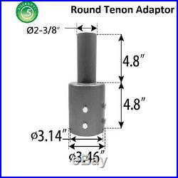 1000LED 4-Pack Round Tenon Adapter for 3 OD Round Pole Top Steel Tenon Reducer