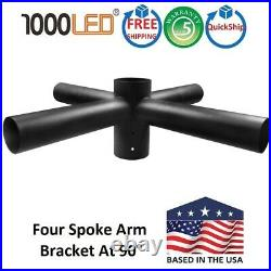 1000LED Quad Steel Spoke, Pole Top Mount Brackets, Four Spoke Arm Bracket At 90°