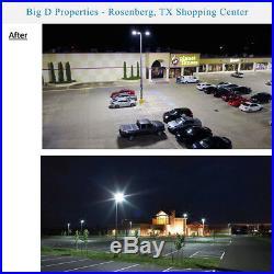 1000W MH/HPS Equiv 300W LED Shoebox, Parking Lot Light, Yoke/Wall/Trunnion Mount