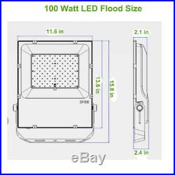 100W 150W 200W LED Flood Light (250W-600W MH Equiv.) 5000K IP65 DLC UL Approved
