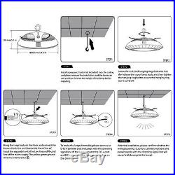 100W Dimmable UFO LED High Bay Light 10500lm Waterproof 120° Spot Warehouse Fit