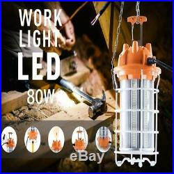100W Led Temporary Work Light Fixture 12000LM 5000K Jobsite Construction Site