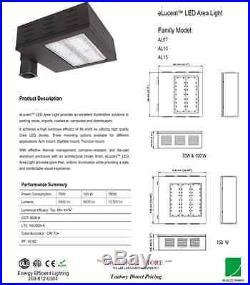 100 watt LED Pole Light fixture energy efficient parking lot outdoor playground