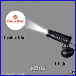 10W LED Static Gobo Advertising Logo Projector Light + 1 Single Color Film
