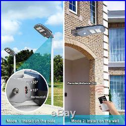 10W Solar Street Backyard Lights Waterproof Parking Motion Sensor Light 1000LM