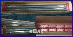 10 PACK 32w 2'x4' 5000K Magnetic LED Troffer Retrofit Kits DLC Listed