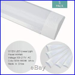10 Pack 4FT 44W Linear LED Wraparound Light, Flushmount Shop Light for Garage