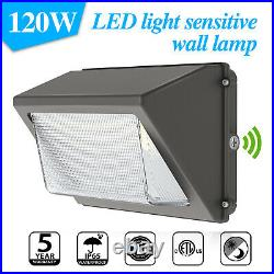 120W LED Wall Pack with Photocell ETL DLC 5000K IP65 Wallpack Dusk To Dawn Light
