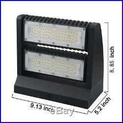 120W Led Wall Pack Light Two Independent Rotatable Flood Light Fixture-5000K