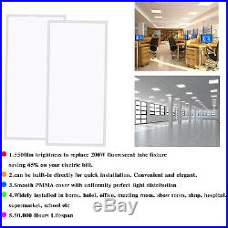12 Pack 2x4 FT 60W LED Panel Light 0-10V Dimmable 8000 Lumens 5500K Daylight