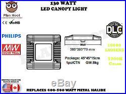 130 Watt LED Canopy Light High Bay Gas Station Warehouse ETL DLC Meanwell 5700K