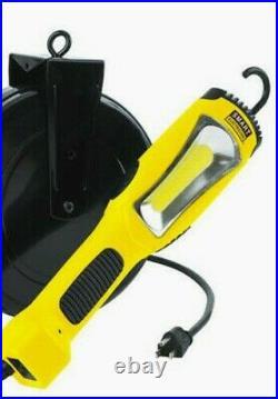 13 Retractable Cord Reel LED COB Handheld Work Light 1300 Lumen Jobsite Lamp