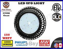 150WT LED UFO HighBay Light ETL DLC 5700K Lamp Lighting Fixture Factory Industry