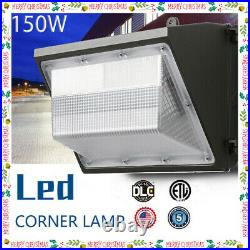 150W 100-277V LED Wall Pack Light with photocell Dusk to Dawn Outdoor 15600LM