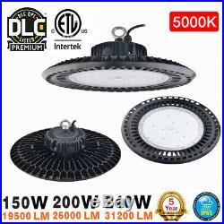 150W 200W UFO LED High Bay Light Industrial Warehouse Factory ETL UL DLC 5000K