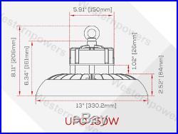 150W 200W UFO LED High Bay Light Industry LED Warehouse Light Fixture UL DLC