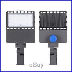 150W 300W 480W LED Dusk to Dawn Shoebox Light Parking Lot Street Pole DLC ETL