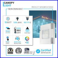 150W Drop Lens LED Canopy Light 5700K Gas Station Parking Garage Light Fixtures