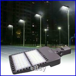 150W LED Parking Lot Light-Slip Fit 5500K Daylight 18000LM Photocell IP65 Street