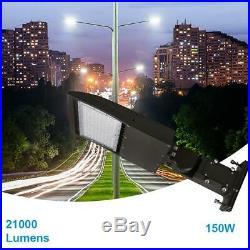 150W LED Parking Lot Pole Light 5700K Shoebox, Street Light Fixtures
