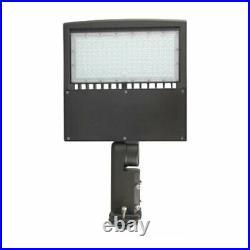 150W LED Pole Light With Photocell 5700K Shoebox, Street Light Fixtures