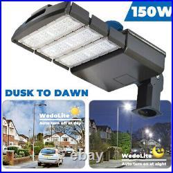 150W Led Parking Lot light Dusk To Dawn Commercial Shoebox Street Lights Fixture