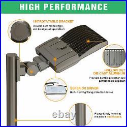 150W Led Parking lot Lights Street Lamp IP65 Shoebox Pole Lights Arm Mount 5000K