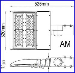150W Matrix Shoebox 5000K UL DLC, US SELLER