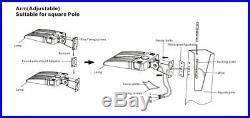 150W Parking Lot Light 19500LM Outdoor LED Shoebox Pole Lighting 5000K UL DLC