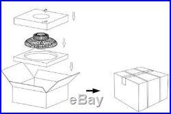 150W UFO LED High Bay Light Replace 400W MH HPS Warehouse Garage Lighting 5000K