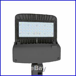 150Watt LED Parking Lot Light With Photocell Shoebox Street Area Flood Light DLC
