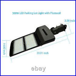 150/300W Module LED Parking Lot Light Street Pole Fixture Shoebox Area Light ETL