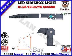 150 WATT LED Shoebox Fixture Slip Fitter ETL DLC Parking Lot Street Light Pole