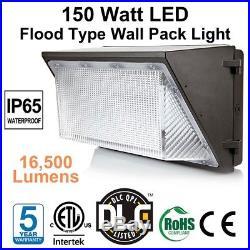 150 Watt Flood Type LED Wall Pack DLC ETL Listed 5000K Replace 400W HID/HPS