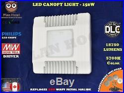 150 Watt LED Canopy Light High Bay Gas Station Warehouse DLC Meanwell 5700K