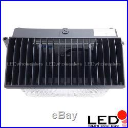 150-Watt LED Wall Pack Security Outdoor Light Fixture, Black Finish