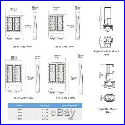 150w 200w 300W LED Parking Lot shoebox Light with photocell & arm Mount UL/DLC
