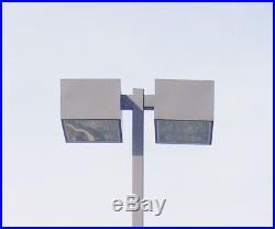 17.5 Foot Tall Parking Lot Sodium Vapor Lights & Poles