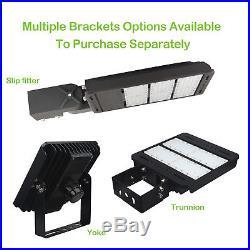 185W LED Shoebox Commerical Pole Light Dimmable Parking Lot Light 22200lm 5000K