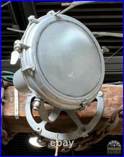 1960's Fireboat SaIvage, 14 Industrial Spotlight Crouse Hinds, Aluminum & Glass
