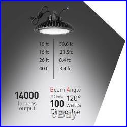 200W 150W 100W UFO LED High Bay Light Warehouse Fixture Lamp Factory Shop Lights