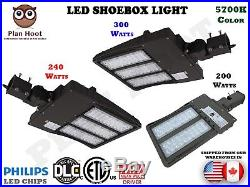 200W, 240W, 300W LED Dusk to Dawn Shoebox Fixture ETL DLC for Street Light Pole