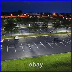 200W 26000lm Car Auto Dealership Parking Lot Lighting Fixture LED Pole Light DLC
