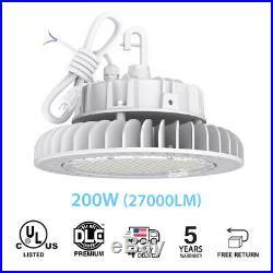 200W 5000K UFO LED High Bay Warehouse Light fixture Lamp factory shop lighting