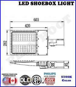 200W LED Dusk to Dawn Shoebox Fixture ETL DLC for Parking Lot Street Light Pole