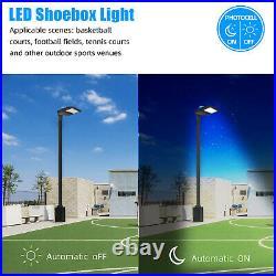 200W LED Parking Lot Lights Street Light Shoebox Pole Light Fixture Dusk to Dawn
