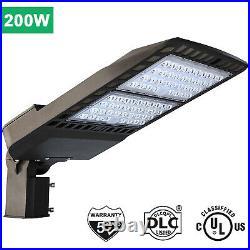 200W LED Shoebox Street Light, Area Parking Lot Light Pole Fixture 5000K UL DLC