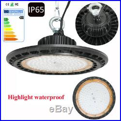 200W LED UFO High Bay Fixture Light Lamp 20000LM For Warehouse Gym Shop 6500K US