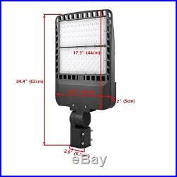 200W Parking Lot Light 24000LM Outdoor LED Shoebox Light Pole Lighting 5700K New