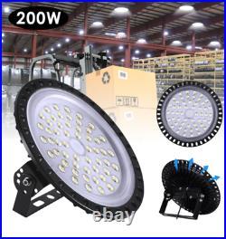 200W UFO LED High Bay Light Shop Lights Bulb Warehouse Industrial Outdoor Watt